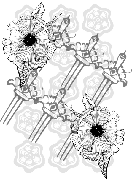 Ilustration 2 - Combs and Flowers